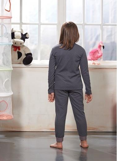 Zeyzey Nakışlı Kız Çocuk Pijama Takım Pembe